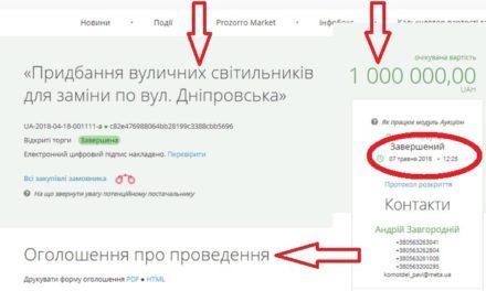 Як в Павлограді вуличні світильники купували? Невже це нечесна закупівля через чесний тендер?