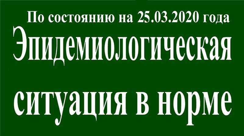 На 25 марта эпидситуация в Павлограде в норме