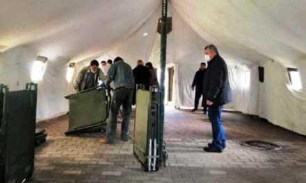По городам Днепропетровщины установили палатки для больных коронавирусом