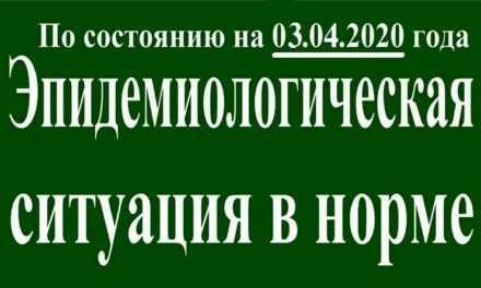 На 03 апреля эпидситуация в Павлограде в норме