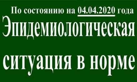 На 04 апреля эпидситуация в Павлограде в норме