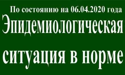 На 06 апреля эпидситуация в Павлограде в норме