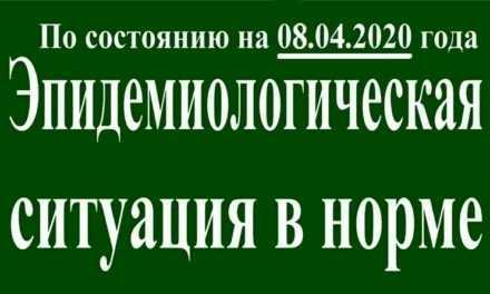 В Павлограде на утро 08 апреля эпидситуация в норме