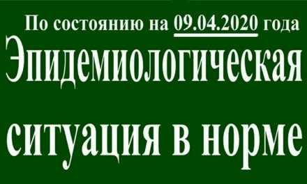 В Павлограде на утро 09 апреля эпидситуация в норме