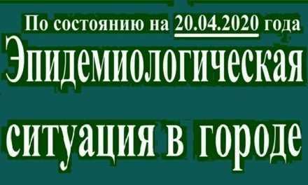 Эпидемиологическая ситуация в Павлограде на утро 20 апреля
