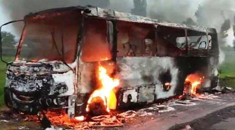 Згорів автобус, що їхав з Павлограда на Першотравенськ