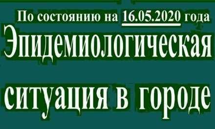 Эпидемиологическая ситуация в Павлограде на утро 16 мая