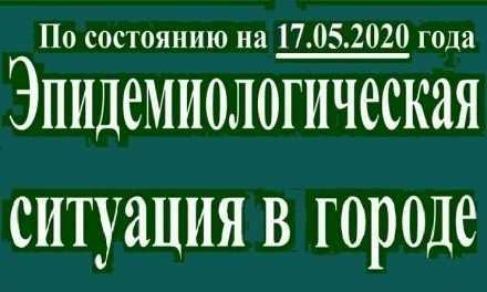 Эпидемиологическая ситуация в Павлограде на утро 17 мая