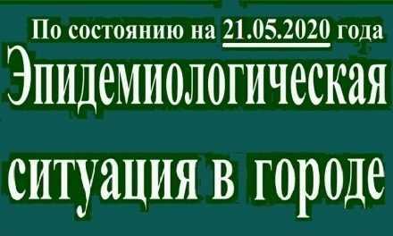 Эпидемиологическая ситуация в Павлограде на утро 21 мая