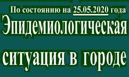 Эпидемиологическая ситуация в Павлограде на утро 25 мая