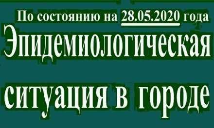 Эпидемиологическая ситуация в Павлограде на утро 28 мая