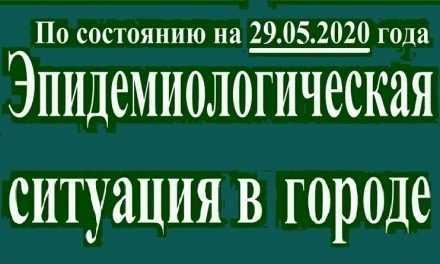 Эпидемиологическая ситуация в Павлограде на утро 29 мая