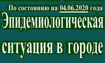 Эпидемиологическая ситуация в Павлограде на утро 04 июня