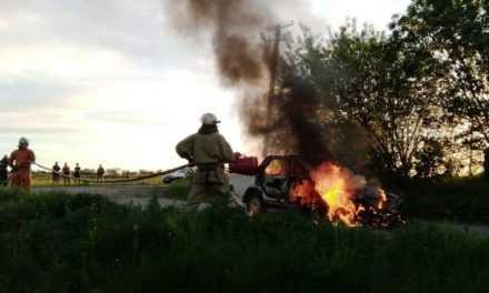 У Юр'ївському районі рятувальники гасили автомобіль