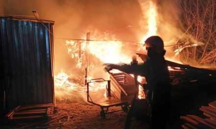 В гаражном кооперативе Павлограда дотла сгорел легковой автомобиль