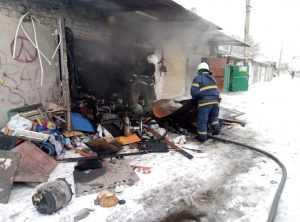 В Павлограде пожарные ликвидировали возгорание в гараже