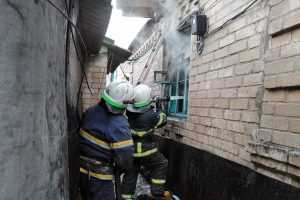 Во время пожара в частном доме пострадал человек