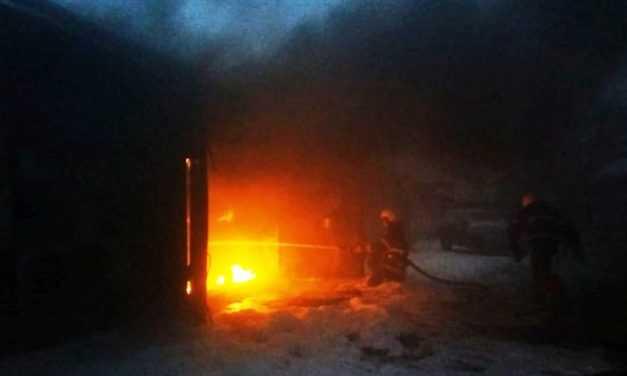 В Павлограде ликвидирован пожар на территории гаражного кооператива