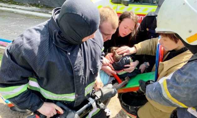 Павлоградские спасатели пришли на помощь маленькой девочке (ВИДЕО)