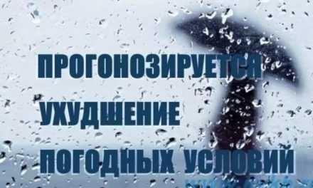 Внимание! Ухудшение погодных условий