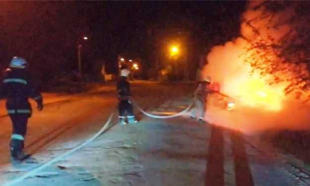 В Павлограде пожарные ликвидировали возгорание в автомобиле