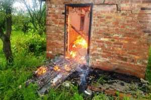 В Павлограде пожарные потушили возгорание на территории садового общества