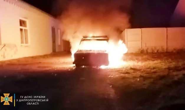 В Богуславе огнем уничтожен легковой автомобиль (ВИДЕО)